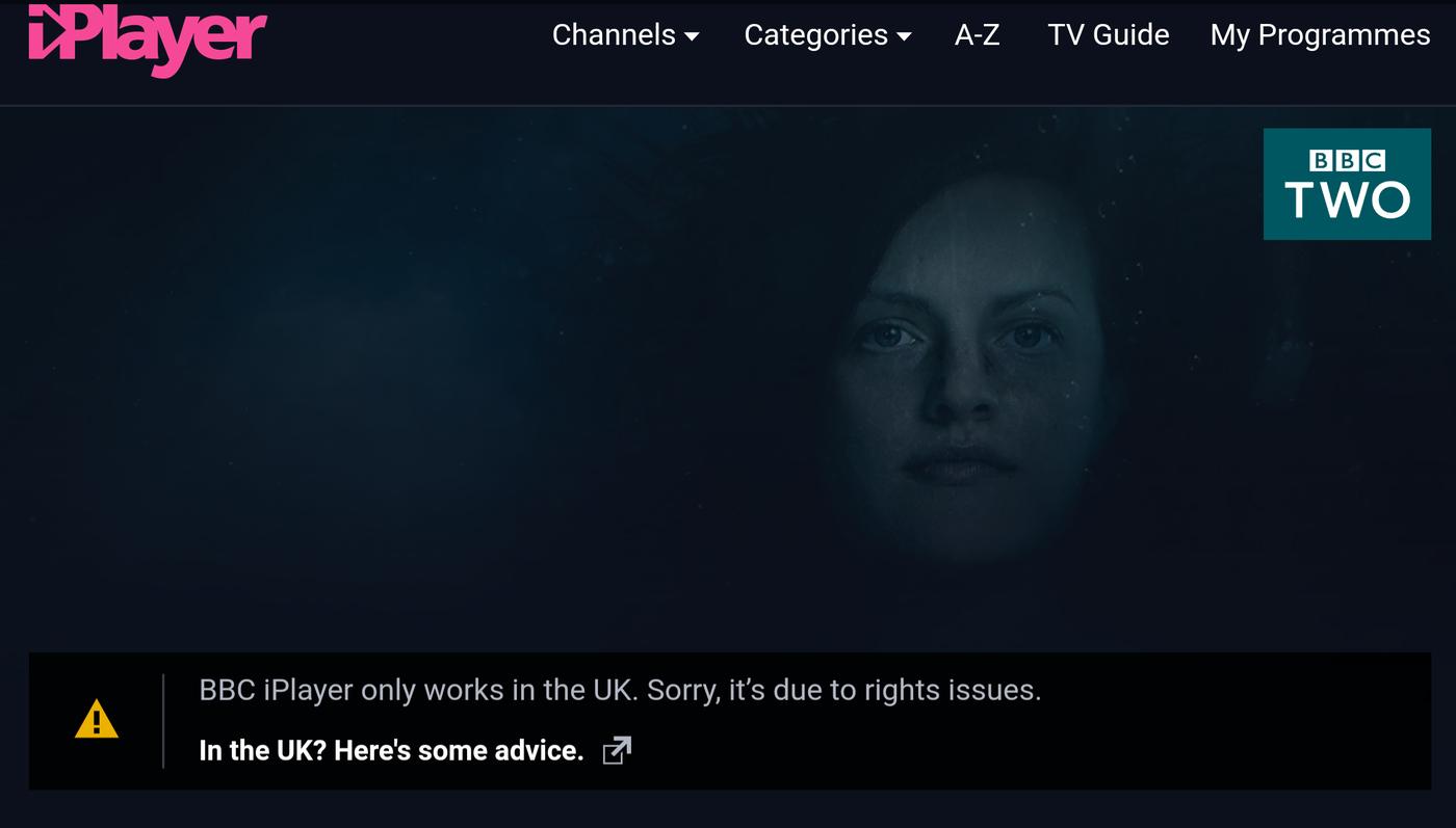 BBC iPlayer blocked outside UK